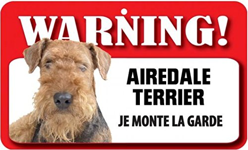 Plaque Airedale Terrier \