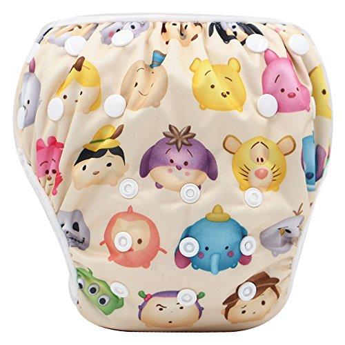 Storeofbaby Pañal de baño para bebés y niñas Lección de natación Patrón lindo Imprimir