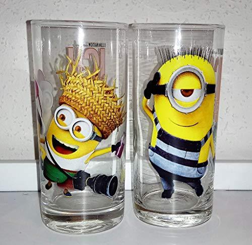 Rofu / Glas/Gläser/Kindergläser / 2 x 0,2 Liter/Minion`s/Einfach Unverbesserlich 3