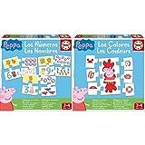 Educa Aprendo Los Números Peppa Pig Animales Puzzle tivo, Multicolor (16224) + Los Colores Peppa Pig Juego tivo para Bebés, Multicolor (16225)