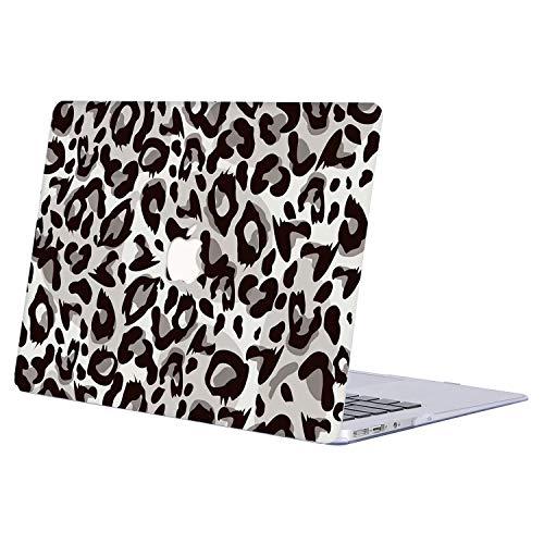 AJYX Funda MacBook Pro 13 2016/2017/2018/2019, Plástico Duro Case Carcasa para MacBook Pro 13.3 Pulgadas con/sin Touch Bar & Touch ID (Modelo: A1706 A1708 A1989/A2159),R834 Leopardo