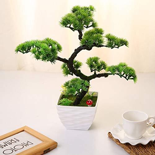 LNDDP Künstliche japanische Kiefer Bonsai für im Freien Home Tisch Küche Büro Hochzeit Garten Dekorationen, 13,39