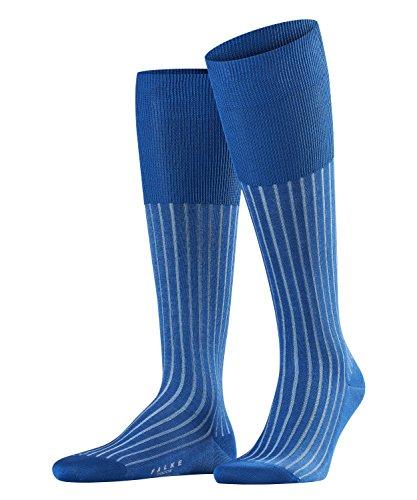 FALKE Herren Kniestrümpfe Shadow - 95prozent Baumwolle, 1 Paar, Blau (Paris Blue 6057), Größe: 41-42
