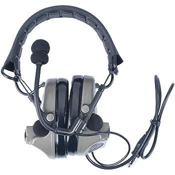 3PS COMTA II タイプ タクティカルヘッドセット レプリカ 音ピックアップ ノイズ除去 戦術ヘッドセット (FG)