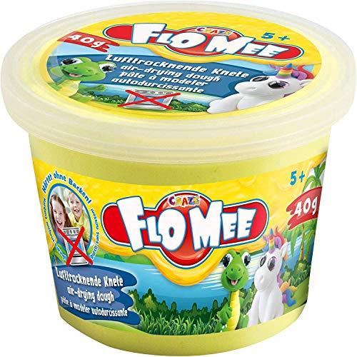 Craze FloMee Modellier-Masse Kugelknete buntfarben Knete trocknet ohne Backen Wasserbasis Kinderknete in 40 g Dose 15780