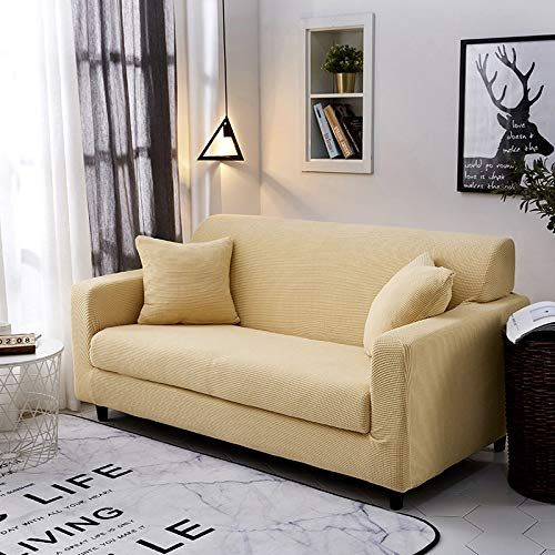 uyeoco Fundas Sofa Elasticas 1/2/3/4 Plazas,Cubre Sofa,Fundas para Sofa,Decorativas Fundas de Sofa Ajustables Protector para el Sofa Chaise Longue (Color : F, Size : 4 Seater (235-300 cm))