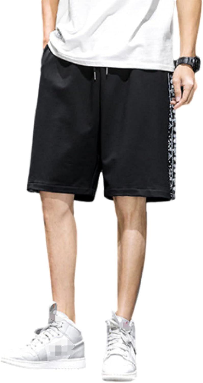 Segindy Men's Loose Fit Shorts Fashion Solid Color Casual Comfortable Drawstring