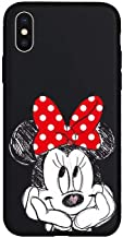Cute Cartoon Mickey Minnie Mouse Cover Soft TPU Silicone Case for iPhone Case Cover for I Phone 7 Plus or 8 Plus (I Phone 7 Plus or 8 Plus/Minnie Black)