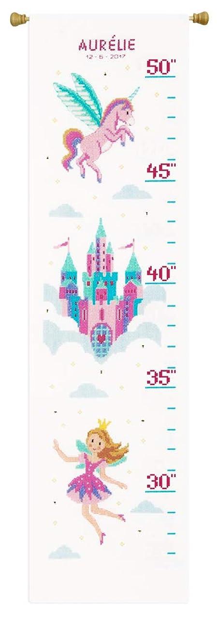 Vervaco Counted Cross Stitch Kit Princess & Unicorn, Cotton, Multi-Color, 18 x 70 x 0,3 cm