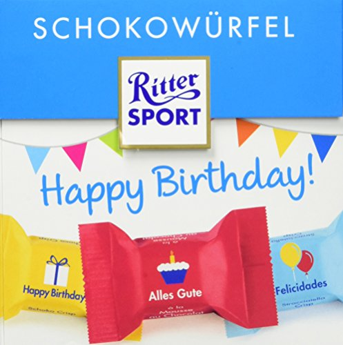 Ritter Sport Schokowürfel Happy Birthday, 176 g