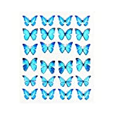1pc Black Butterfly Nail Decals and Stickers Flower Blue Colorful Water Tattoo for Manicures Nail Art Slider Decor (STZ1013)