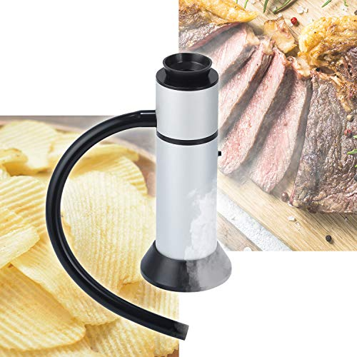 GREEN HOUSE Portable Smoke Gun Handheld Smoke Infuser for Meat, Sausage, Cheeses, Potato chips. Removable Top-Easy to clean. Perfect Gift for Mothers Women & Smoke Food Lovers