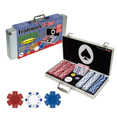 Trademark Poker Poker Chip Set for Texas Holdem, Blackjack, Gambling with Carrying...