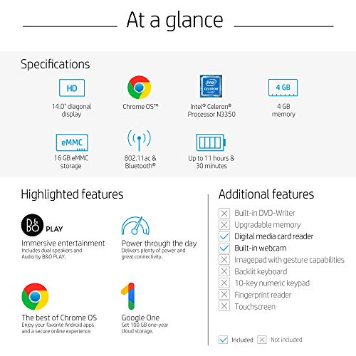 Compare HP Chromebook (14-ca030nr) vs other laptops