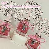 Sindy Bomboniere 6 Diffusori per Ambiente con Frasi Amore Gioia Sogni profumatore con fragranza + Kit di confezionamento (Rosa)
