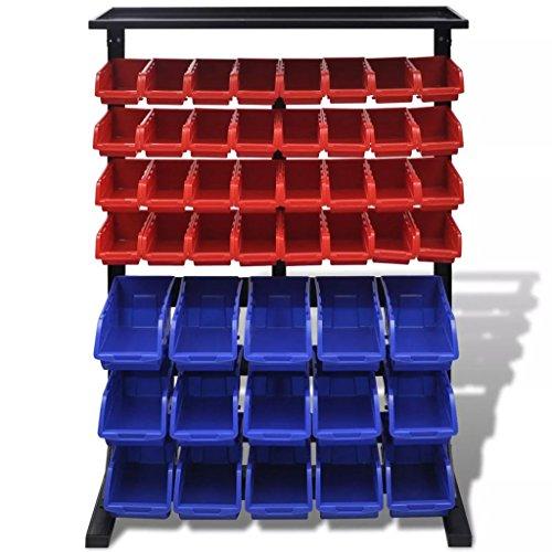 Tidyard Werkstattboxen mit Ständer Blau & Rot DIY Supplies Construction Accessories Tool Storage & Organising Systems Tool Cabinets