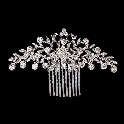 Txian Haarkamm, Hochzeit, Braut, Brautjungfer, Blume, Kristall, Strass, Perlen, Haarklammer