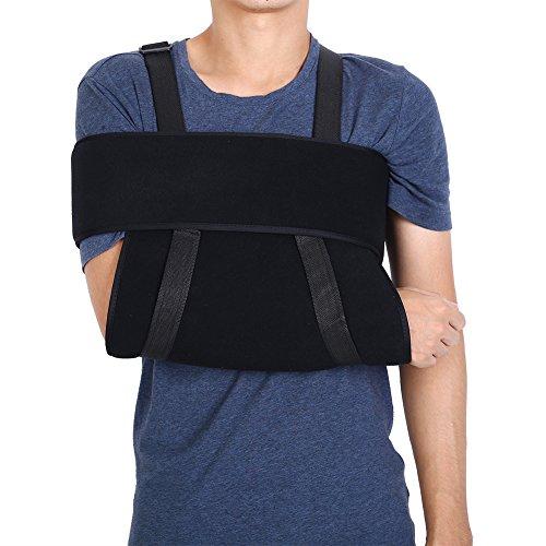 Tutore per la spalla regolabile con immobilizzatore per il braccio, traspirante e sostiene, per omero lussato, fratturato,...