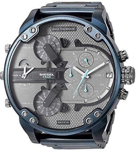 uniqui shop Nieuwe Diesel Mens Mr Daddy 2.0 - DZ7414 Chronograaf Blauw roestvrij horloge met doos