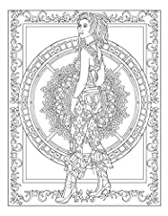 Creative Haven Steampunk Fashions Coloring Book (Creative Haven Coloring Books) #5