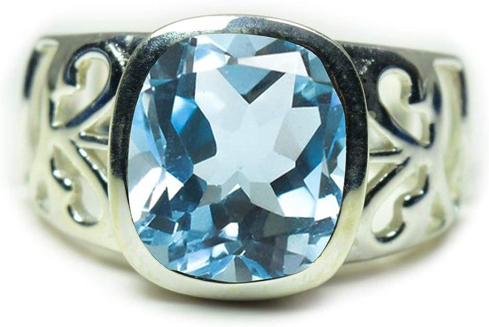 55Carat Elige tu color de piedra natural anillos de plata para hombres y mujeres, joyería hecha a mano, talla H-Z