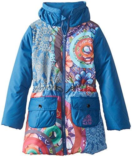 Desigual Kids niña 48e3096Chaqueta de Invierno/Chaqueta/Abrigo Agua Azul Gaultier