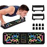 synmixx Tabla de Flexiones, 14 en 1 Push Up Rack Board Multifuncional Plegable Marco de Entrenamiento portátil Push Up Board para El Aptitud Entrenamiento Muscular Del Cuerpo Deporte Gimnasio Hogar