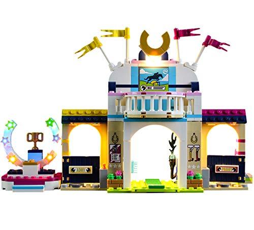 QZPM Licht-Set Für (Freunde Stephanies Pferdespringen) Modell - LED Licht-Set Kompatibel Mit Lego 41367 (Ohne Lego Set)