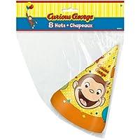 おさるのジョージ パーティーハット 8個入り 三角帽 パーティーグッズ 帽子 お誕生日会 Curious George バースデー とんがり帽子 ミニオンズ 誕生会 パーティー キャラクター 雑貨 グッズ 13277