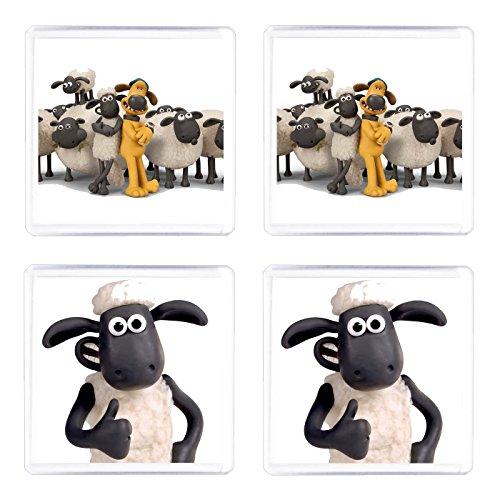 Juego de 4 posavasos Shaun con diseño de oveja
