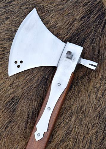 Schlachtaxt mit Hammer, 16. Jahrhundert, 44cm ULFBERTH Mittelalter Wikinger Reeactment Axt Axe - 2