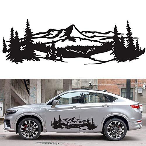 YOUNICER Auto DIY decoración Pegatina montaña árbol Bosque calcomanía Vinilo gráfico Pegatina decoración 50 * 150 cm