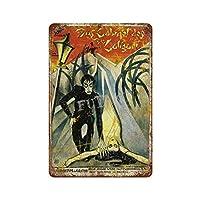 Das Cabinet Des Dr.Caligariポスターさびた錫のサインヴィンテージアルミニウムプラークアートポスター装飾面白い鉄の絵の個性安全標識警告バースクールカフェガレージの寝室に適しています