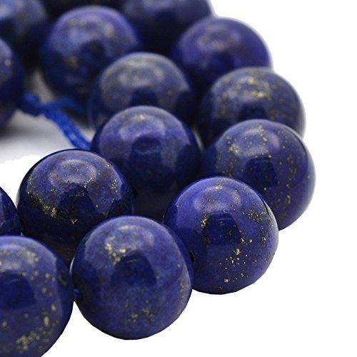 Edelstein PERLEN Natur Lapis Lazuli NATURSTEINE 4mm RUND BLAU 24stk Halbedelstein Edelstein Schmuckperlen Schmuckstein für DIY Kette Basteln AZG388