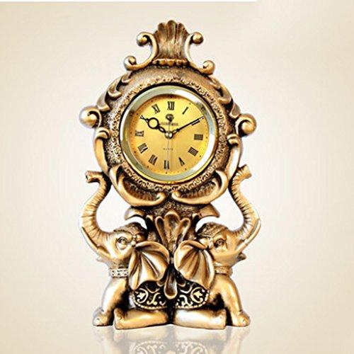 Horloge de table Horloge européenne / rétro salon éléphant horloge / creative bureau horloge luxe chambre bureau horloge Pendules et horloges