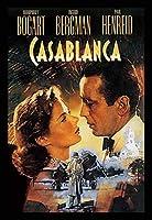 カサブランカ☆Casablanca ハンフリーボガート イングリッドバーグマン、アート映画のポスターフレーム、装飾が施された部屋、最高の贈り物のサイズ16 x 12inch
