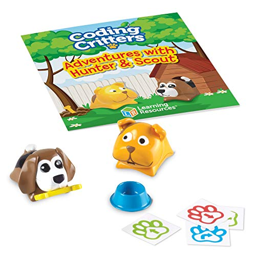 Learning Resources Coding Critters Pair-A-Pets Dogs Hunter & Scout, Early STEM Coding Toy, Interactive Pet, Ages 4+