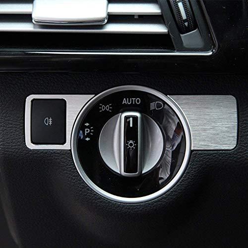 Aluminiumlegierung Scheinwerfer Schalter Abdeckung Trim Aufkleber Auto Styling Zubehör für A W176 B W246 C W204 E-klasse W212 GLA GLK X204 GL ML