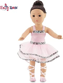 Emily Rose Fits American Girl Doll Ballet/Ballerina Dance Outfit - 18 Inch Doll Clothes/Clothing Includes 18
