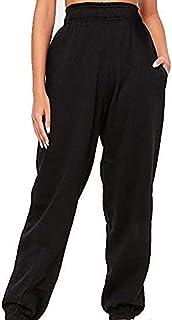 NOBRAND Women 's Sports Loose Pants Home Loungewear Capri Jogger Running Pants Lounge Elasticated Waistband Pants