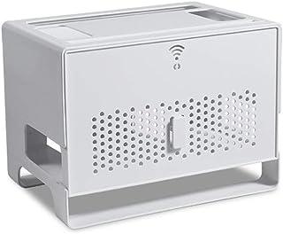 WOHCO Caja de Almacenamiento de enrutador inalámbrico, Soporte de enrutador WiFi Decodificador de Almacenamiento de DVD Ca...