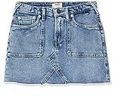 Pepe Jeans Millie Worker Falda, Azul (Meduim Used 000), 7-8 años (Talla del Fabricante: 8Y/128) para Niñas