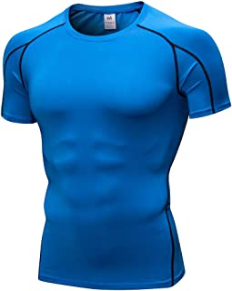 wuliLINL Mens Summer Casual Printing T-Shirt Fitness Sport Fast-Dry Breathable Top Blouse