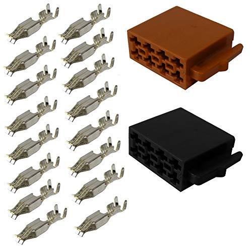 Aerzetix: Stecker ISO 16 Pin Kabelbaum Universal Stromversorgung + Lautsprecher Crimpzange