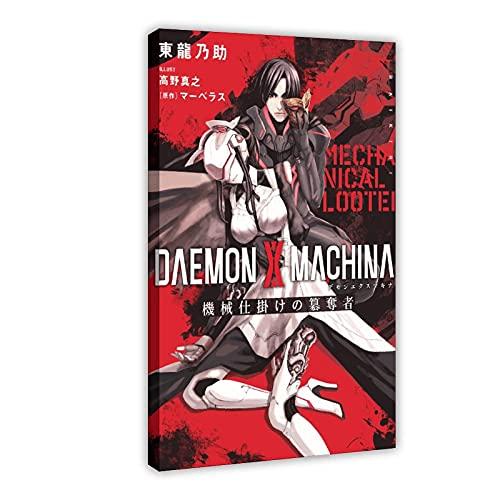 Daemon X Machina Poster sur toile pour décoration de salon, chambre à coucher 50 x 75 cm