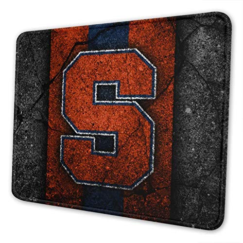 Syracuse Orange Orange Blue-1 Gaming Square Mouse Pad (7 Inches X 8.6 Inches) Non-Slip Rubber Smooth Surface Mouse Pad, Suitable for Office and Entertainment