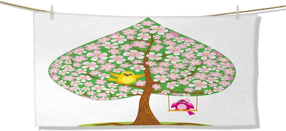 Dasnh Baby Max 42% OFF Bath Towel Heart Shape Free shipping Bloss Spring Flowers Tree with