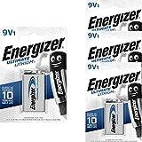 Energizer L522-9V-FR22-E-Block - 4 batterie al litio da 9 V