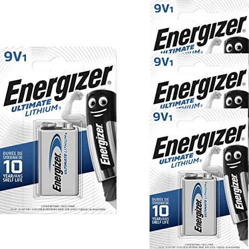 Energizer 4 9V Lithium Batterien Lithium 9V-Block L522-9V-FR22-E-Block (4er Set)