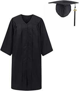 UIALECG Unisex Adult Matte Graduation Gown Cap with Tassel 2019